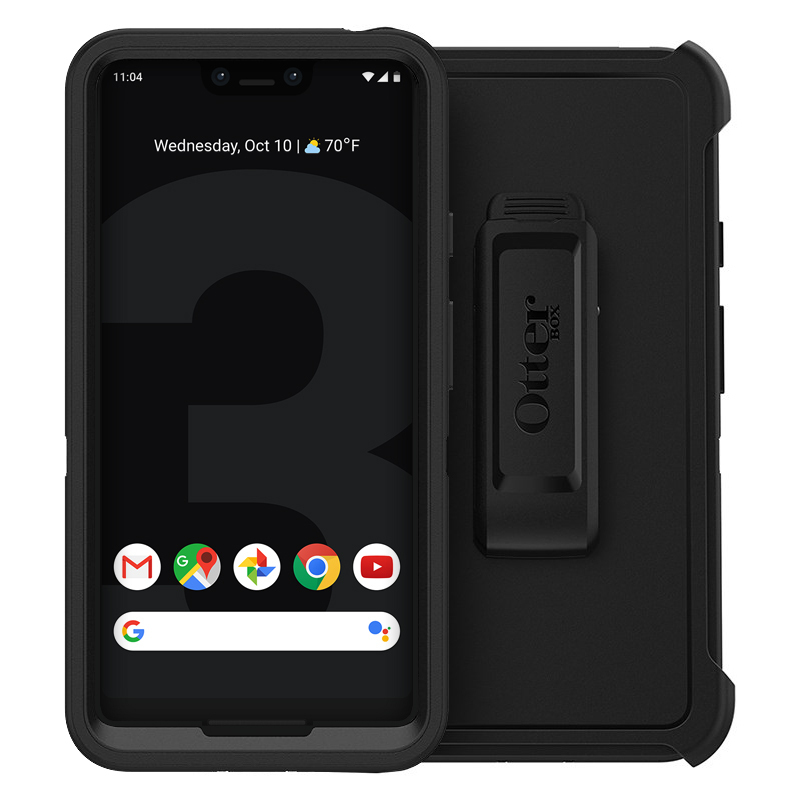 free shipping 9ab60 1c51e OtterBox Defender Case for Google Pixel 3 XL (Black)